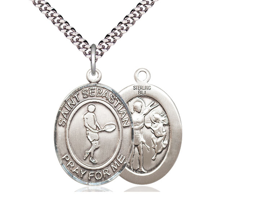 St Sebastian Tennis<br>Oval Patron Saint Series<br>Available in 3 Sizes