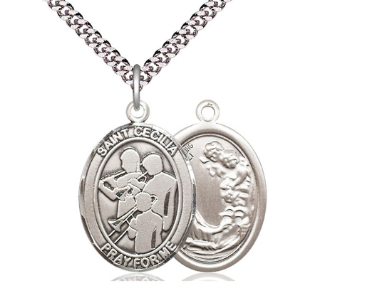 St Cecilia Marching Band<br>Oval Patron Saint Series<br>Available in 3 Sizes