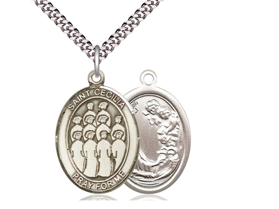St Cecilia Choir<br>Oval Patron Saint Series<br>Available in 3 Sizes