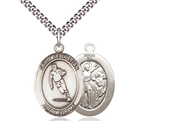 St Sebastian Rugby<br>Oval Patron Saint Series<br>Available in 3 Sizes