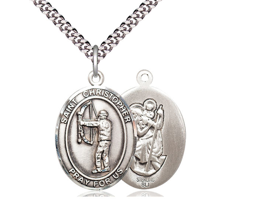 St Christopher Archery<br>Oval Patron Saint Series<br>Available in 3 Sizes