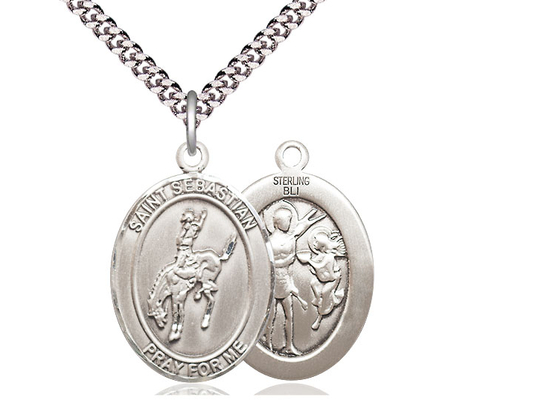 St Sebastian Rodeo<br>Oval Patron Saint Series<br>Available in 3 Sizes