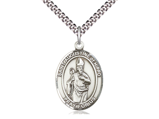 St Augustine of Hippo<br>Oval Patron Saint Series<br>Available in 3 Sizes