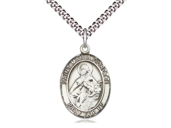 St Maria Goretti<br>Oval Patron Saint Series<br>Available in 3 Sizes