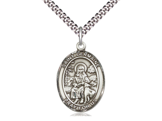 St Germaine Cousin<br>Oval Patron Saint Series<br>Available in 3 Sizes