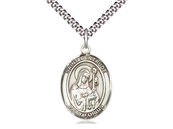 St Gertrude of Nivelles<br>Oval Patron Saint Series<br>Available in 3 Sizes