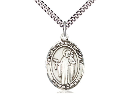 St Joseph the Worker<br>Oval Patron Saint Series<br>Available in 3 Sizes