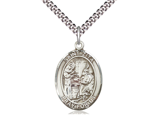 St Zita<br>Oval Patron Saint Series<br>Available in 3 Sizes