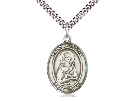 St Victoria<br>Oval Patron Saint Series<br>Available in 3 Sizes