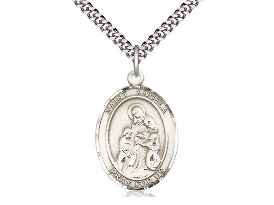 St Angela Merici<br>Oval Patron Saint Series<br>Available in 3 Sizes