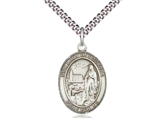 Our Lady of Lourdes<br>Oval Patron Saint Series<br>Available in 3 Sizes