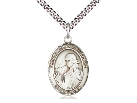 St Finnian of Clonard<br>Oval Patron Saint Series<br>Available in 3 Sizes