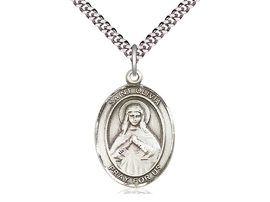 St Olivia<br>Oval Patron Saint Series<br>Available in 3 Sizes