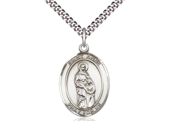 St Anne<br>Oval Patron Saint Series<br>Available in 3 Sizes