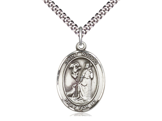 St Rocco<br>Oval Patron Saint Series<br>Available in 3 Sizes
