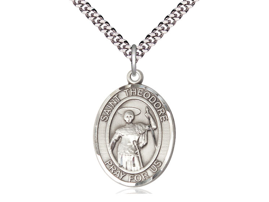St Theodore Stratelates<br>Oval Patron Saint Series<br>Available in 2 Sizes