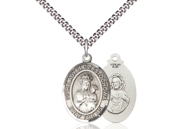 Our Lady of Czestochowa<br>Oval Patron Saint Series<br>Available in 3 Sizes