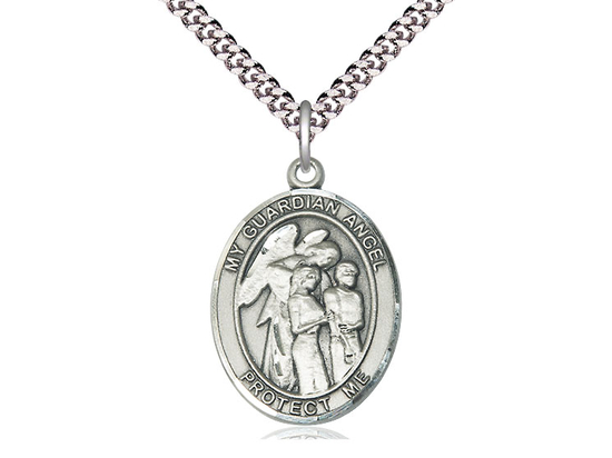 Guardian Angel w/Children<br>Oval Patron Saint Series<br>Available in 2 Sizes
