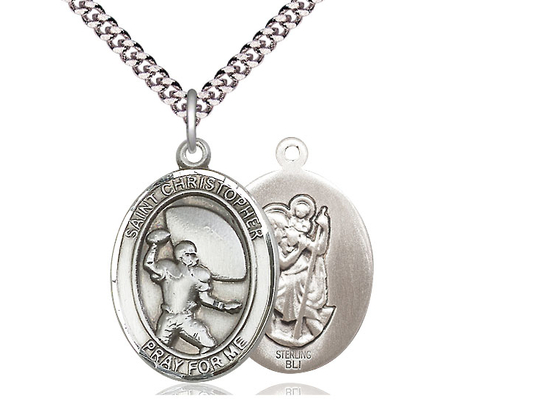 St Christpher Football<br>Oval Patron Saint Series<br>Available in 3 Sizes