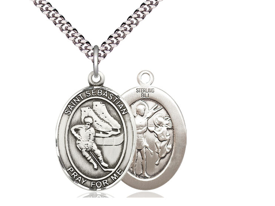 St Sebastian Hockey<br>Oval Patron Saint Series<br>Available in 3 Sizes