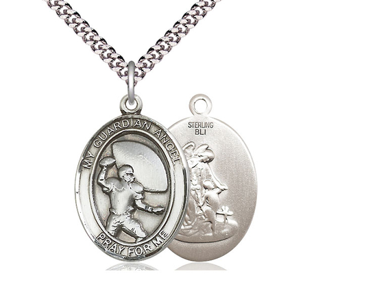 Guardian Angel Football<br>Oval Patron Saint Series<br>Available in 2 Sizes