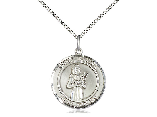 St Agatha<br>Round Patron Saint Series<br>Available in 3 Sizes