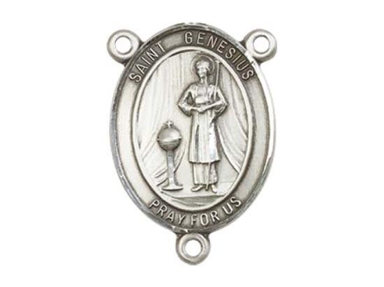 Saint Genesius of Rome<br>8038CTR - 3/4 x 1/2<br>Rosary Center
