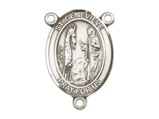 Saint Genevieve<br>8041CTR - 3/4 x 1/2<br>Rosary Center