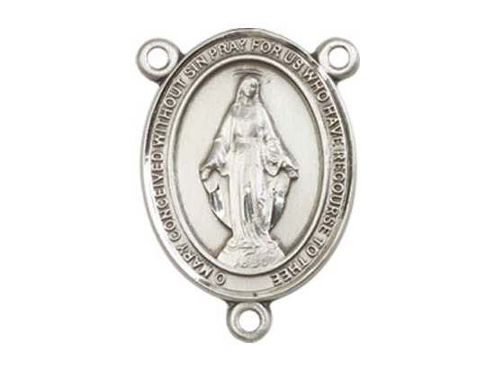Miraculous<br>8078CTR - 3/4 x 1/2<br>Rosary Center