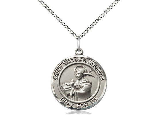 St Thomas Aquinas<br>Round Patron Saint Series<br>Available in 2 Sizes
