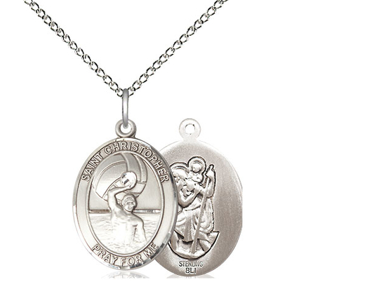 St. Christopher Water Polo-Men<br>Oval Patron Saint Series<br>Available in 3 Sizes