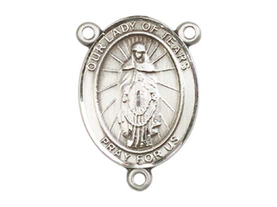 Our Lady of Tears<br>8346CTR - 3/4 x 1/2<br>Rosary Center