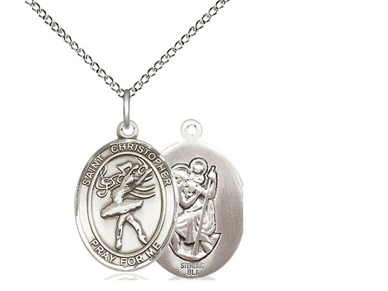 St Christopher Dance<br>Oval Patron Saint Series<br>Available in 3 Sizes