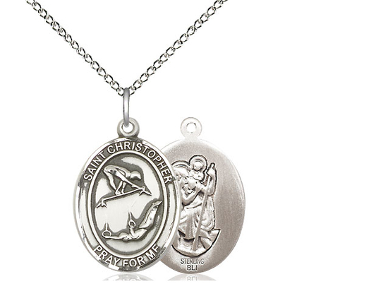 St Christopher Gymnastics<br>Oval Patron Saint Series<br>Available in 3 Sizes
