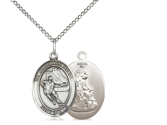 Guardian Angel Hockey<br>Oval Patron Saint Series<br>Available in 3 Sizes