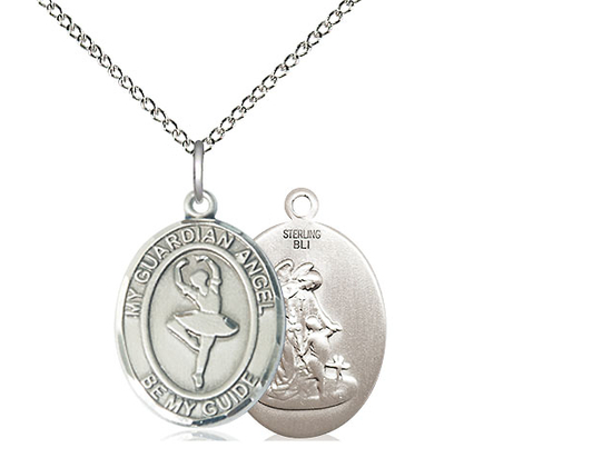 Guardian Angel Dance<br>Oval Patron Saint Series<br>Available in 2 Sizes