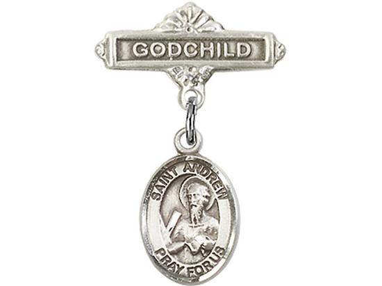 Saint Andrew the Apostle<br>9000/0736 - 1/2 x 1/4<br>Baby Badge