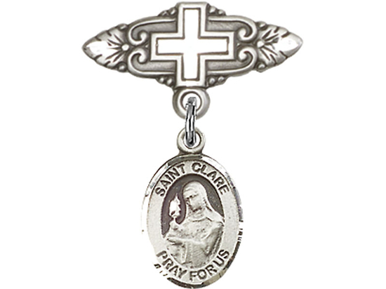 St Clare of Assisi<br>Baby Badge - 9028/0731