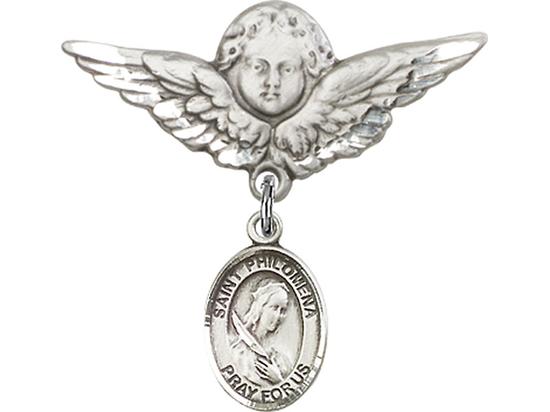 St Philomena<br>Baby Badge - 9077/0733