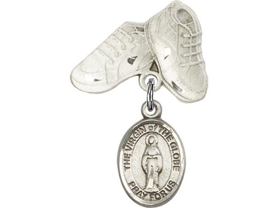 Virgin of the Globe<br>Baby Badge - 9345/5923