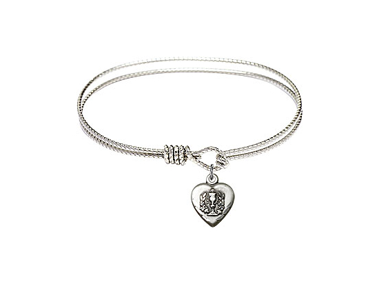 0892 - Heart / Communion Bangle<br>Available in 8 Styles