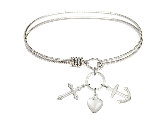 4158 - Faith, Hope & Charity Bangle<br>Available in 8 Styles