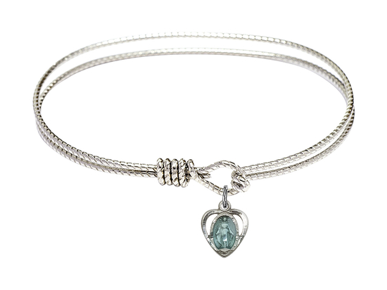 5401E - Miraculous Heart Bangle<br>Available in 8 Styles