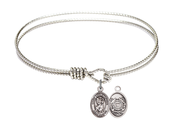 9022--3 - Saint Christopher/Coast Guard Bangle<br>Available in 8 Styles