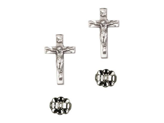 Crucifix<br>E5417P - 5/8 x 1/4<br>Earring