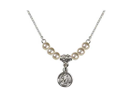 N02 / Faux Pearl Beads<br>2340 - Guardian Angel