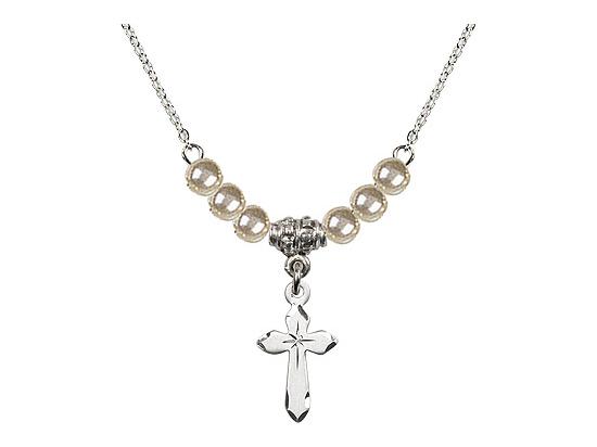 N02 / Faux Pearl Beads<br>2529 - Cross
