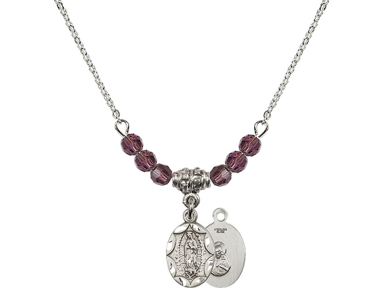 N20 Birthstone Necklace<br>O/L of Guadalupe<br>Available in 15 Colors