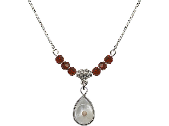 N20 Birthstone Necklace<br>Mustard Seed<br>Available in 15 Colors