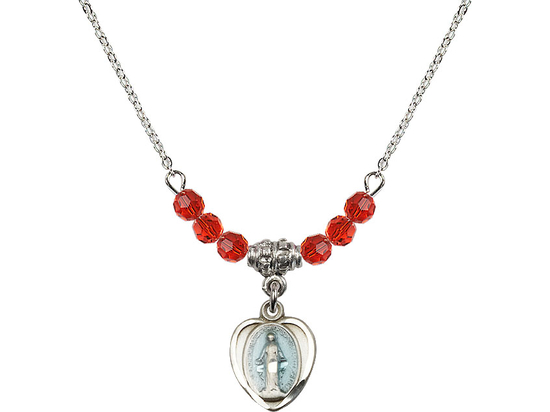 N20 Birthstone Necklace<br>Miraculous<br>Available in 15 Colors